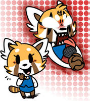 aggretsuko by sniffsniffs
