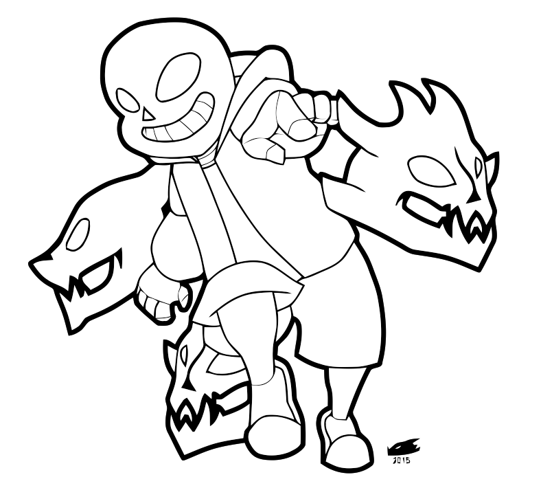 Undertale Gaster Coloring Pages