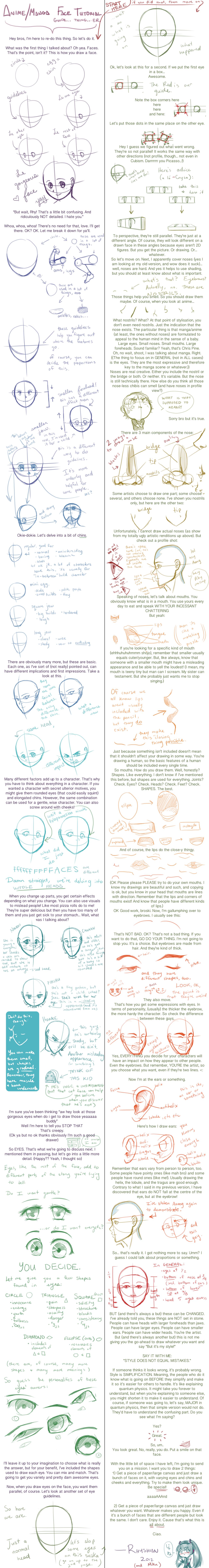 Face/Head Tutorial (Anime/Manga) v.2.0.3 by Rhyshian