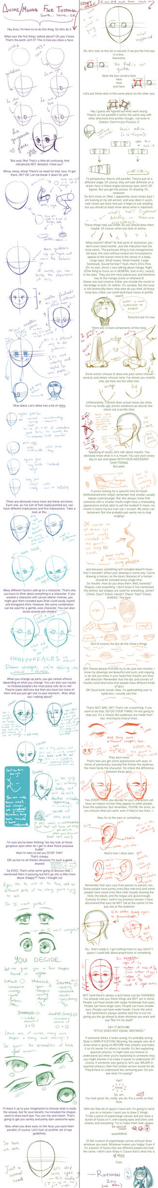 Face/Head Tutorial (Anime/Manga) v.2.0.3 by Rhyshian