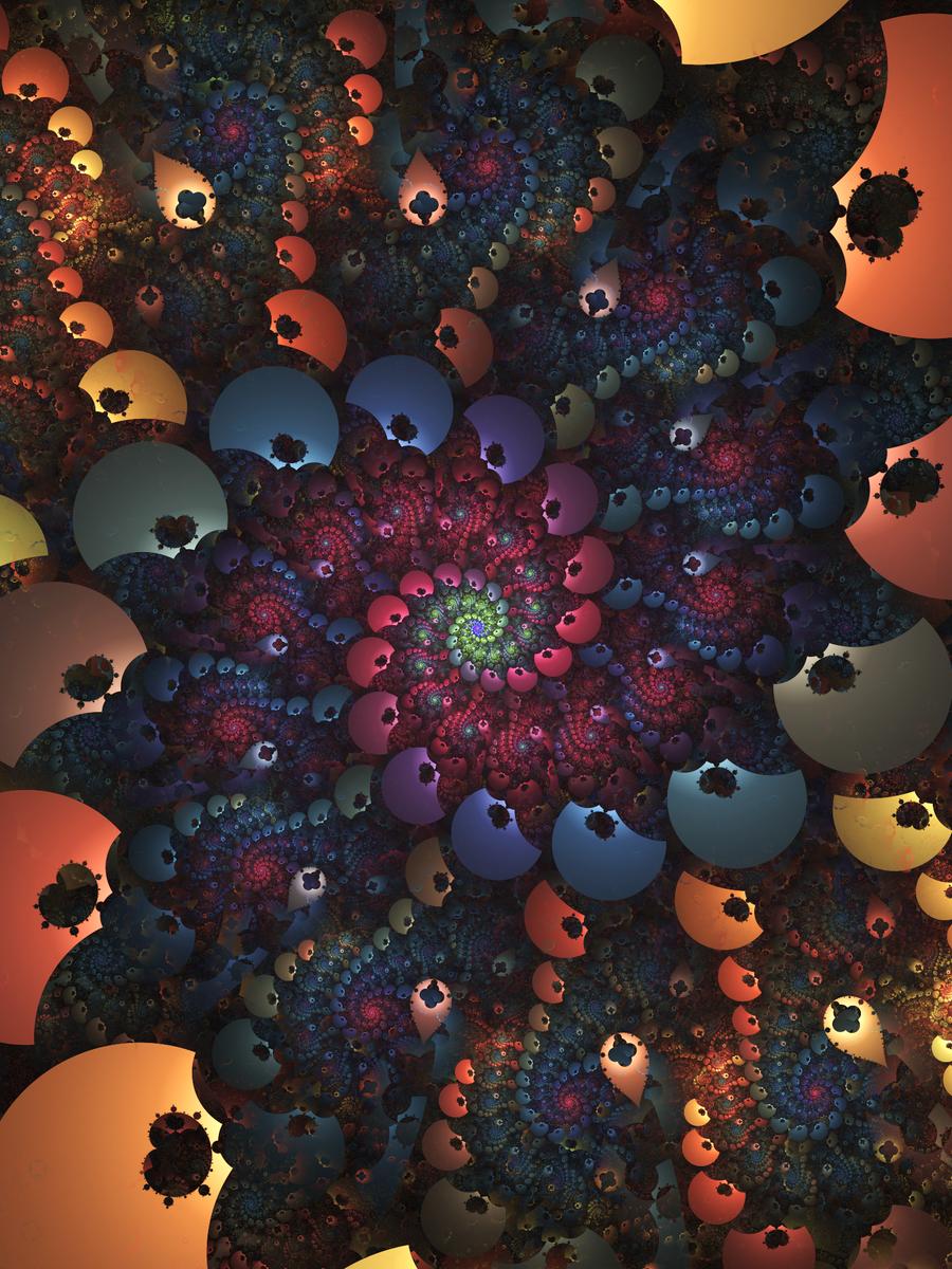 Mandelbrot Spiral by DeirdreReynolds