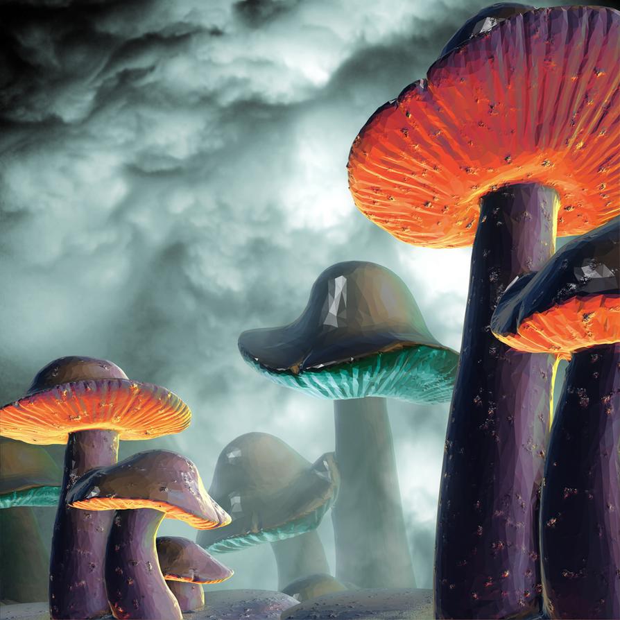 Space Mushrooms by DeirdreReynolds
