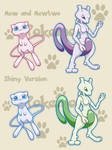 Mew and mewtwo Squiby