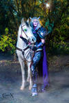 Draenei Death Knight and Horse