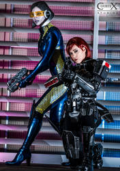 EDI and Shepard by CLeigh-Cosplay