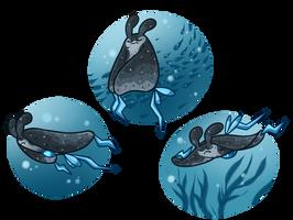 swimmin and stuff by Lei-Leiurus
