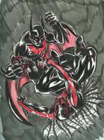 S A D 15 Batman VS  Spiderman by chachaman