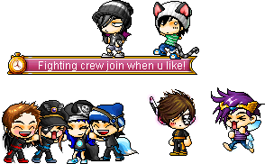 Fighting crew 1 * insert heart * by Puppetermansion