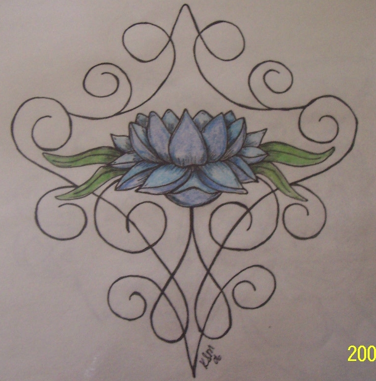 Lotus Tattoo - flower tattoo