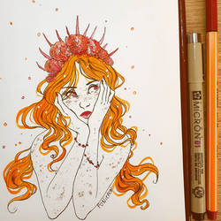 Mermaid - orange tiger