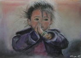 Pray for Nepal by oxalysa