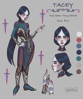 Character design. Tacey Maklif by WhiteRiderArt