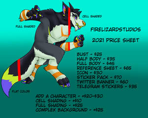 2021 Price Sheet