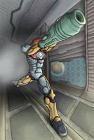 Samus Aran - PED Suit by AgentQwilfish