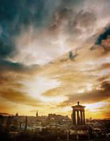 Edinburgh Sunset by Erinti