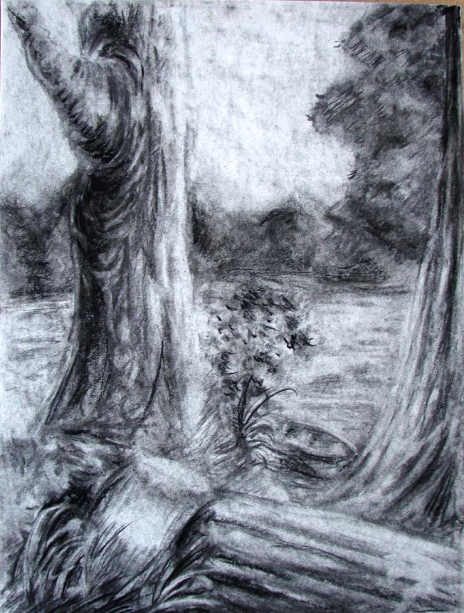 landscape charcoal sketches - photo #27