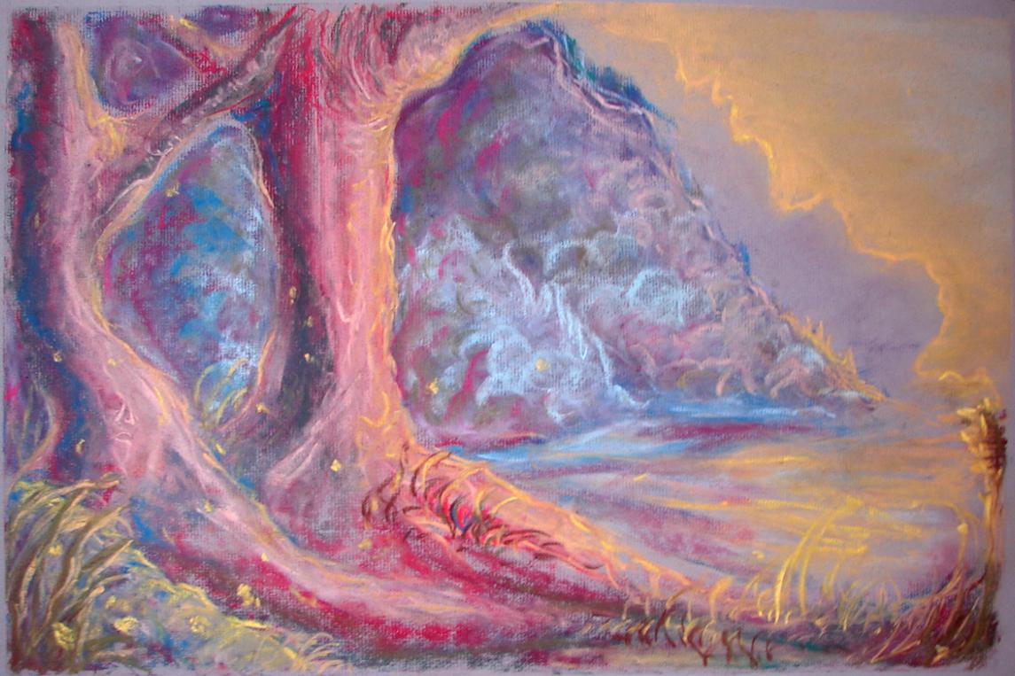 Chalk pastel landscape by musmm on DeviantArt