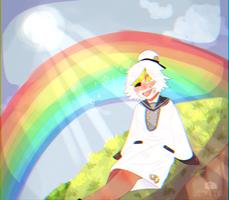 If you wish on a shooting rainbow