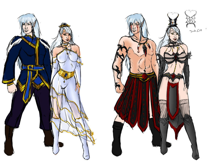 Character Design Group : The twins character design by yako on deviantart