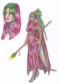 Colored pencil practice: Kazesha