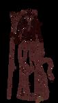 Free Lineart: Tiefling Warlock by Yako