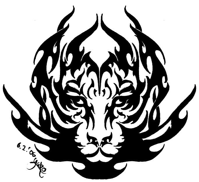 Gallery For > Tiger Dragon Tribal
