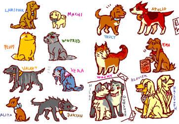 tegaki PW4 dogs Chara spoilers by emlan