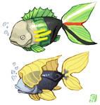 Zoro and Sanji fish