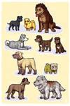 TEN dogs