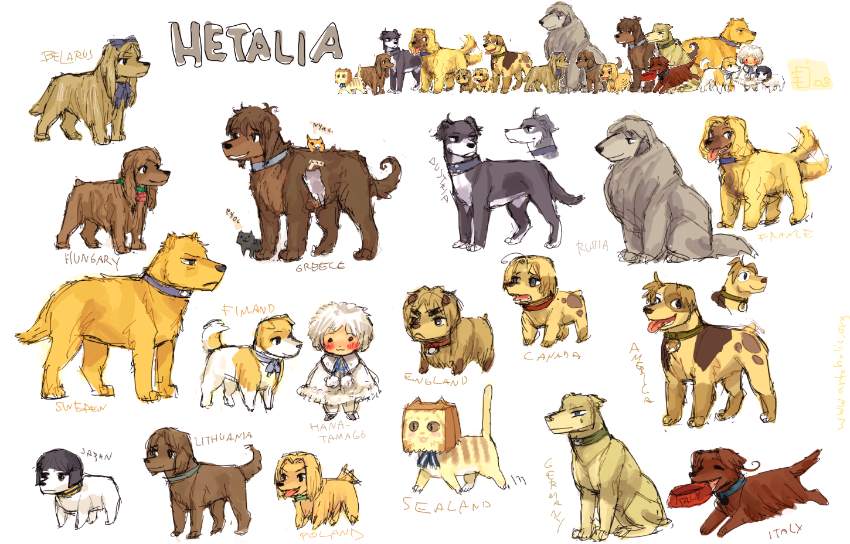 Hetalia dogs by emlan