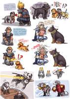DFF doggie doodles 1 by emlan