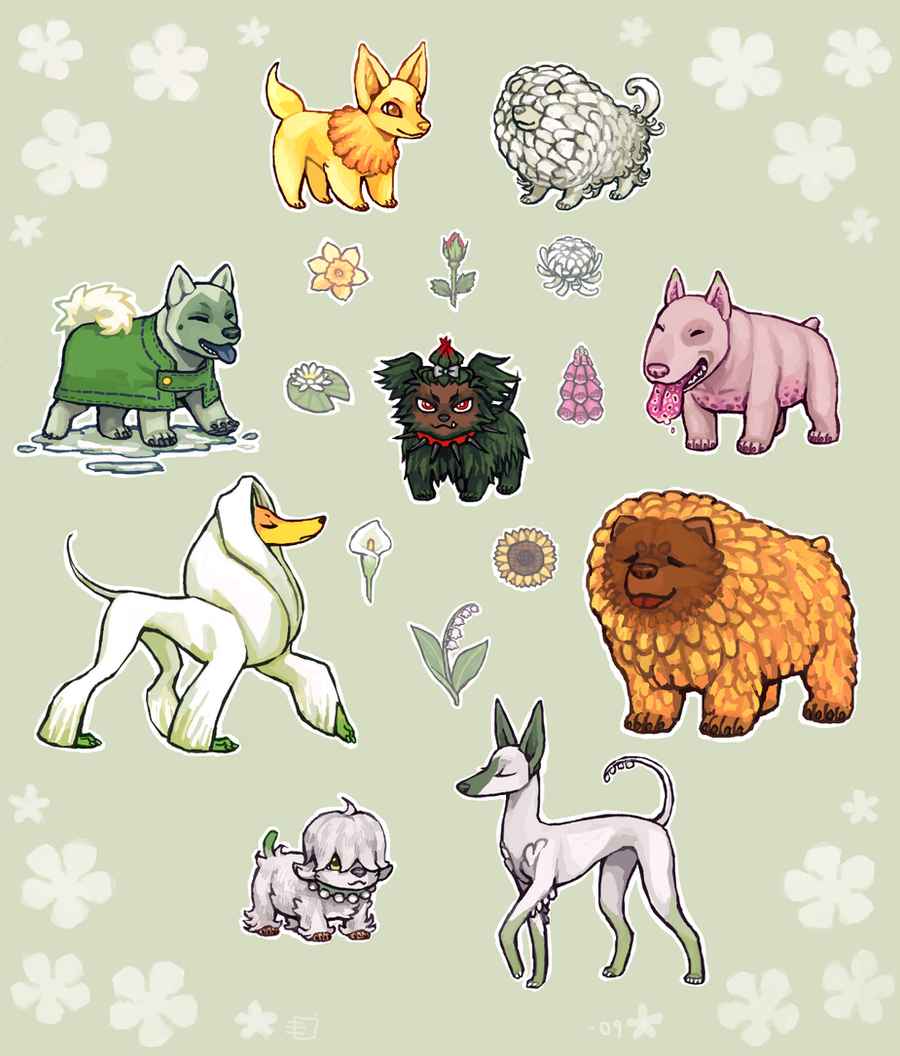 Flowerdogs by emlan
