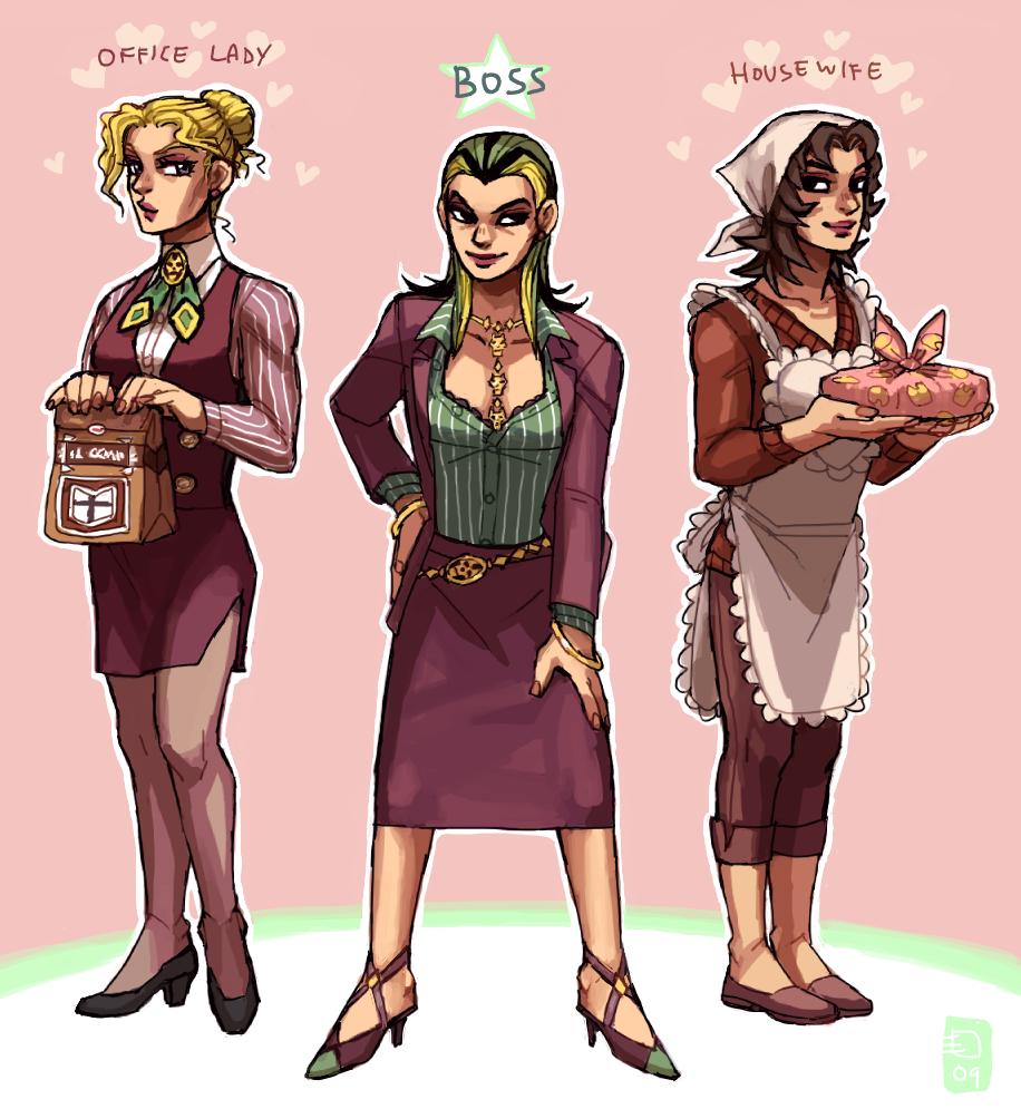 Jojo4 Genderbends Kira x3 by emlan