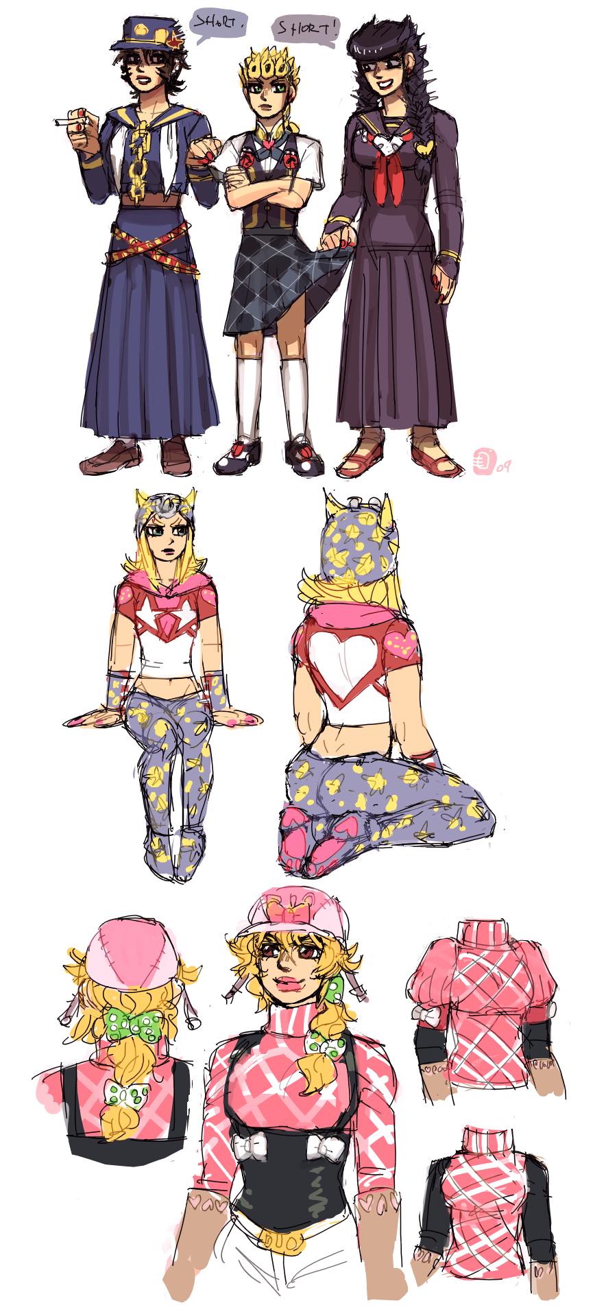 SBR and misc jojo genderbends by emlan