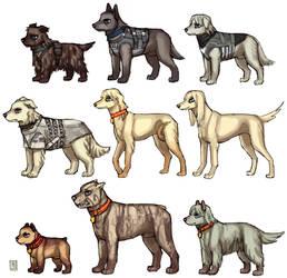 MGS doggies by emlan