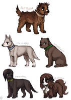 Leftover Hetalia Dogs II by emlan