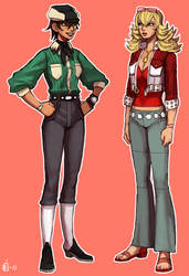 Tetsuko and Barbara by emlan