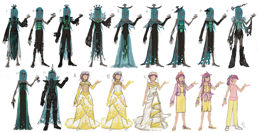 Gijinka - Chrysalis/Cadance Concepts by emlan