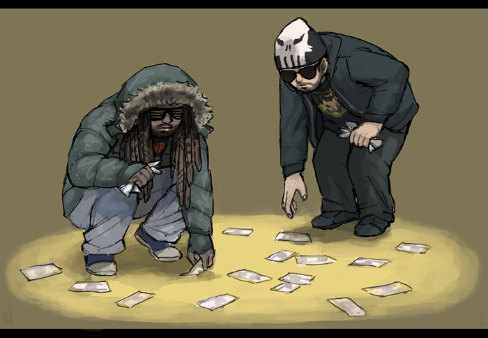Matt and Woolie by emlan