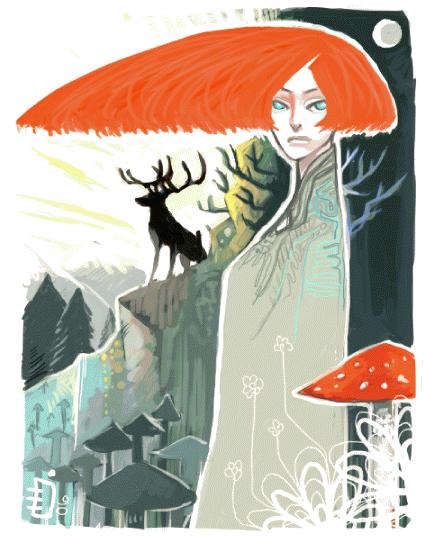 mushroom shine by emlan