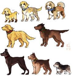 FFXII doggies by emlan