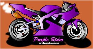 purple motocycle