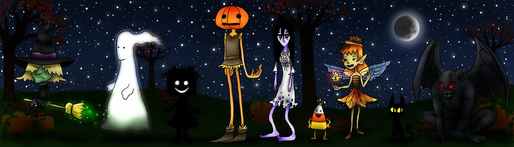 Halloween Characters by cwonadoonoo