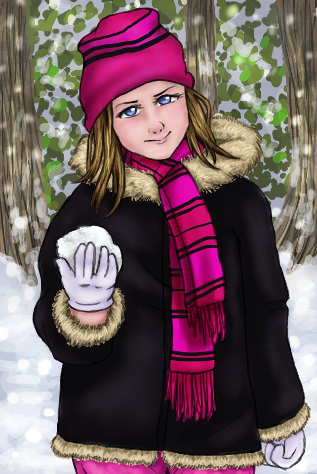 Jessie in the Snow by cwonadoonoo