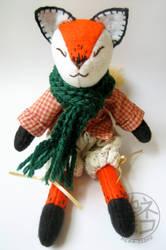 Red Fox - soft sculpture plush by nekojizou