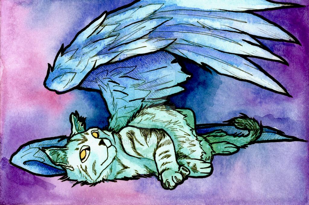 Cat Wings by Bunnyko