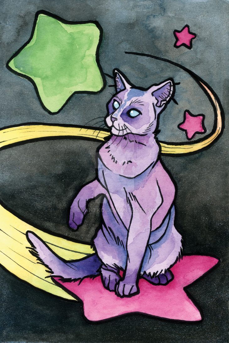 Space Star Cat by Bunnyko