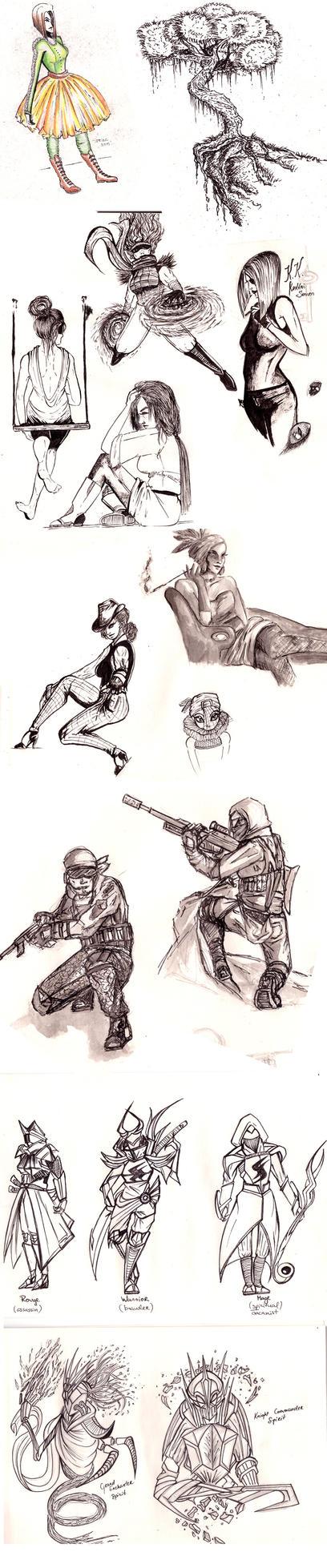 Sketchdump I by MikoKristy