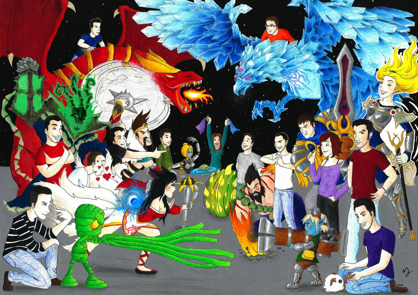 League of Legends friends battle by Yalshid