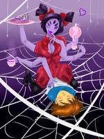 Undertale When Sexy Muffet attack by vanillaxbiscuit